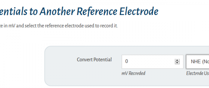 Online Reference Electrode Conversion Calculator